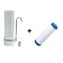 Purificateur d'eau blanc aquapro + 1 cartouche charbon actif KDF