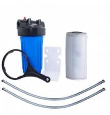 Filtre à eau grand volume. Avec une cartouche charbon actif Big Blue 10 pouces